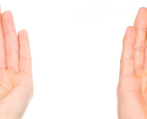 Deaf woman and man ear